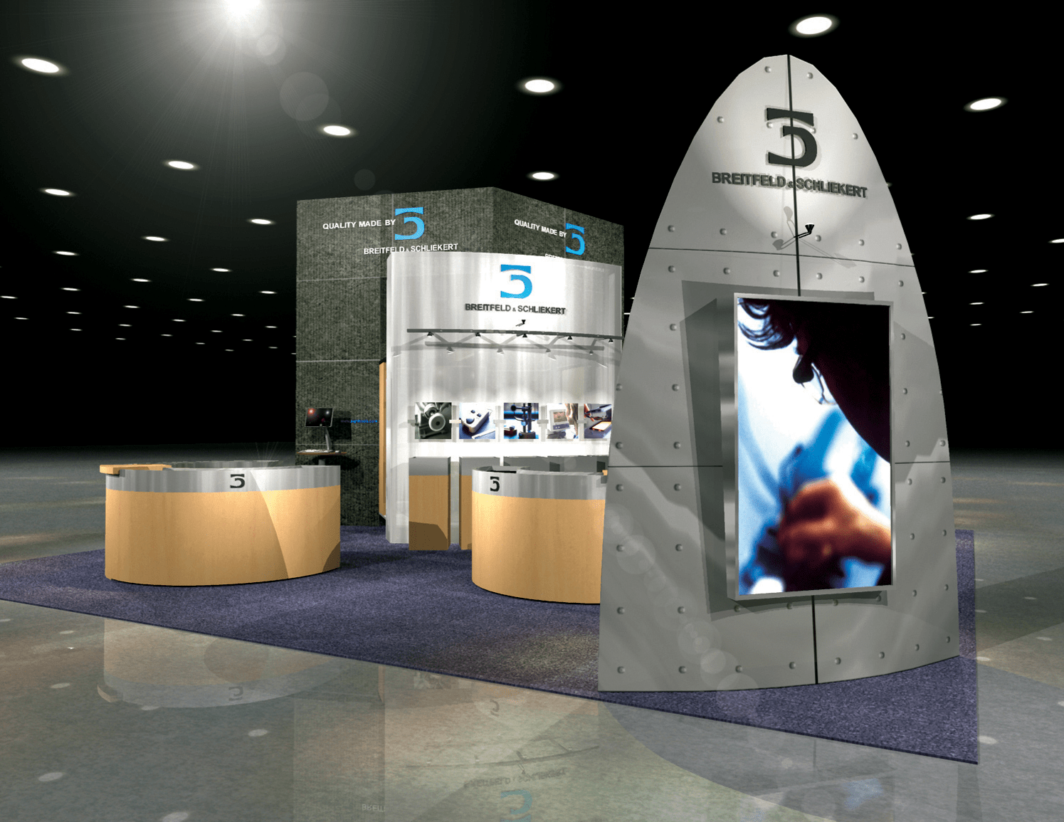 brand launch campaign element: tradeshow booth design