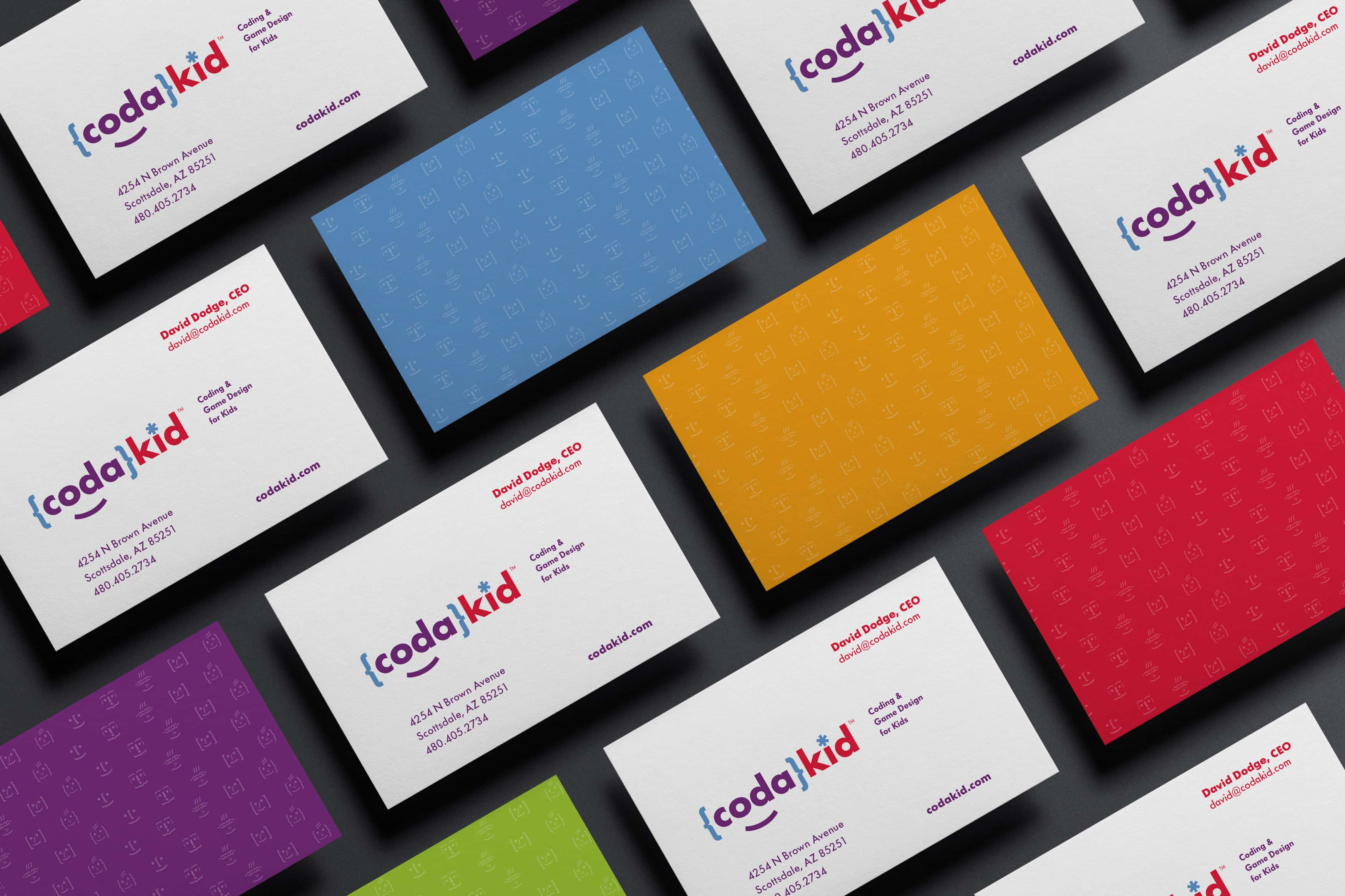 CodaKid Rebrand Application Business Cards
