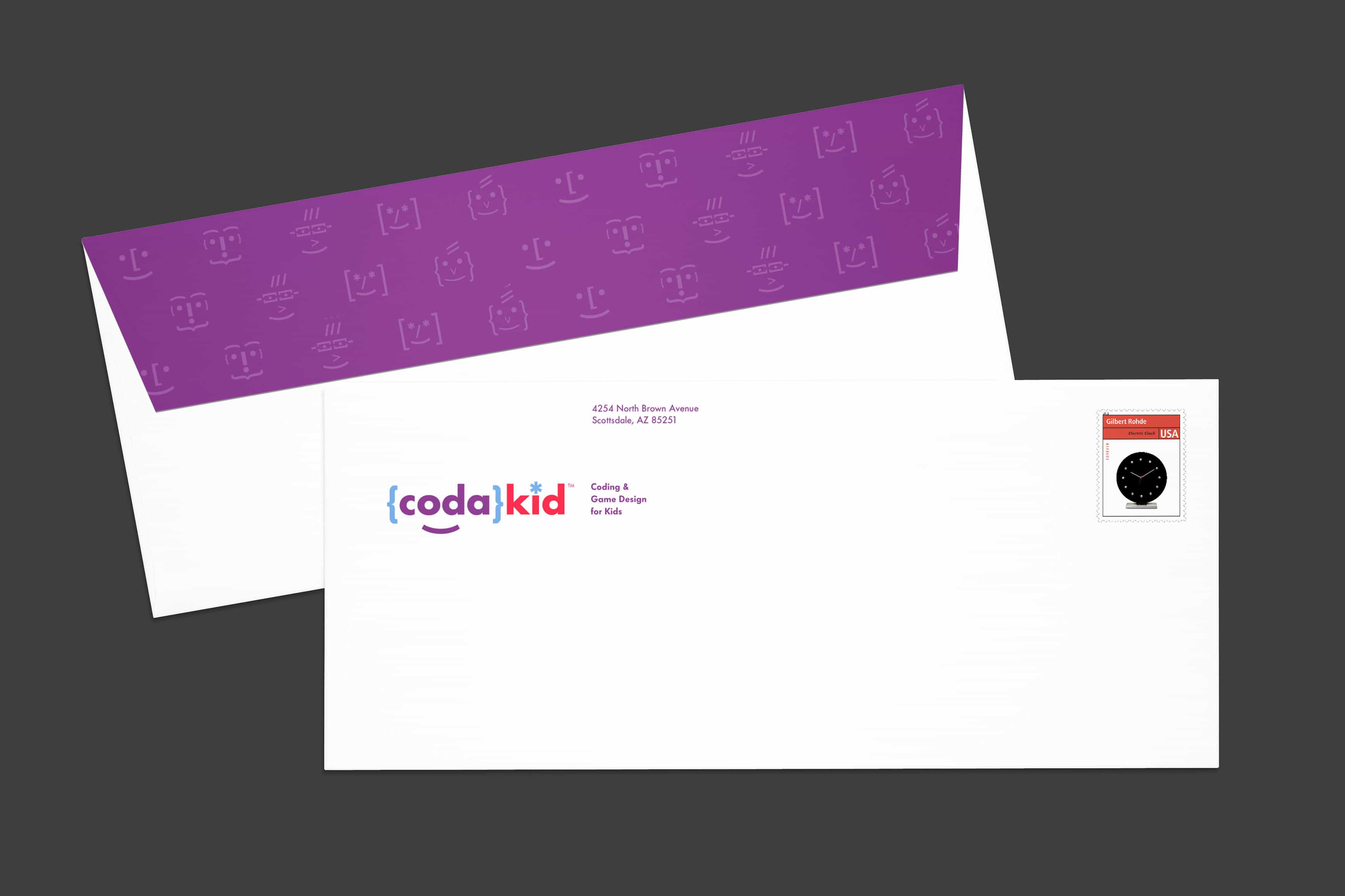 CodaKid Rebrand Application Envelope