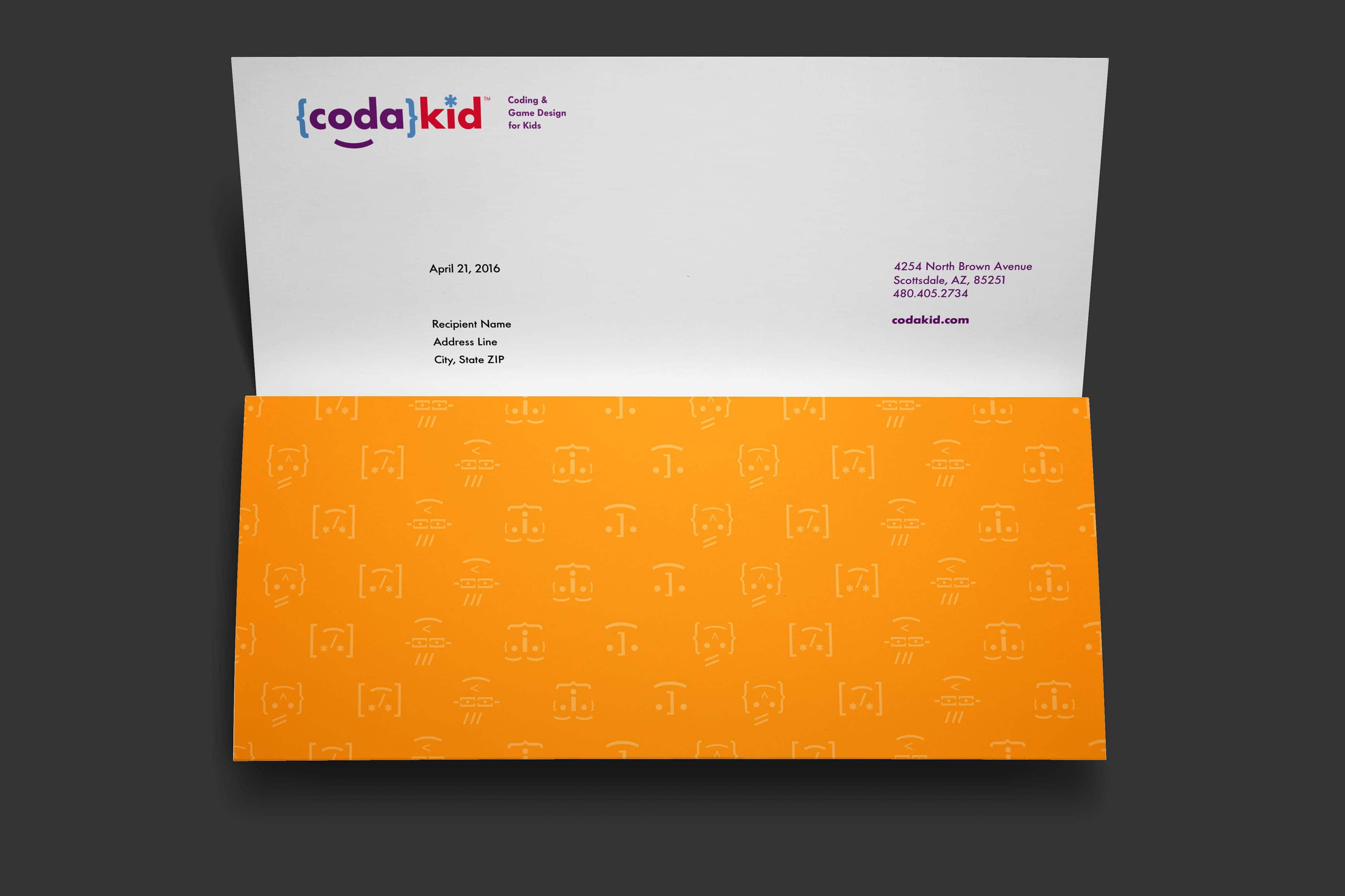 CodaKid Rebrand: Letterhead Application